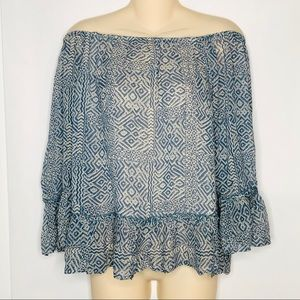 Lucky Brand | Off the Shoulder Flowy Boho Top